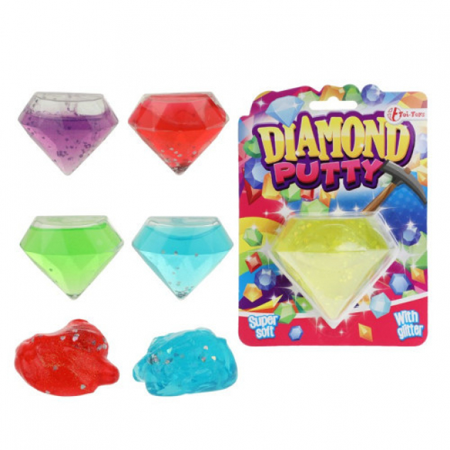 Toi Toys Glitter putty in diamant - 5-ass